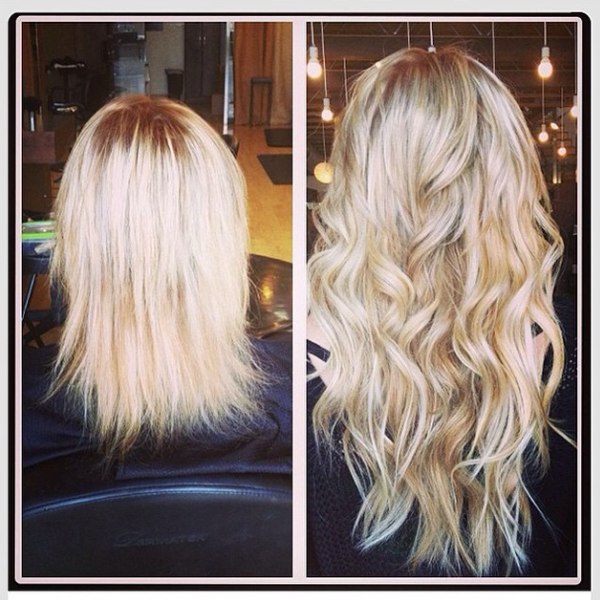 Hairextensions Before And After Right Hair Salon