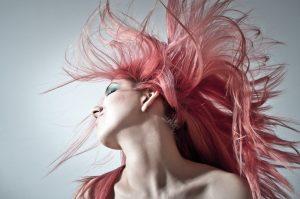 Woman flinging hair back - Right Hair Salon